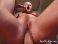 gorgeous blondie harlot riding anally