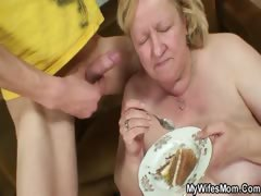 Son in law nailing hot old slut