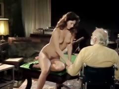 Retro porn slut cheats on her husband with 3 men