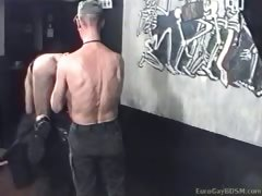 Gas masked male slave gets a deepest ass fisting