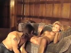 Blonde Slut Fucking On A Couch