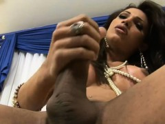 Ripe lovely tranny gets completely used