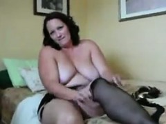 Tattooed BBW Masturbating With A Toy